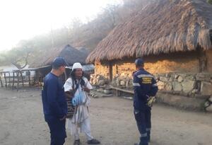 Por lo menos 50 familias arhuacas están afectadas por el incendio en la Sierra Nevada de Santa Marta
