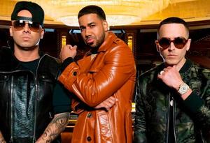 """Wisin, Romeo Santos y Yandel en la imagen promocional de """"Aullando"""""""