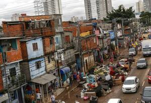 Vista de un sector de Sao Paulo, en Brasil