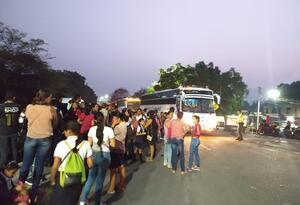 Estudiantes venezolanos en la zona de frontera