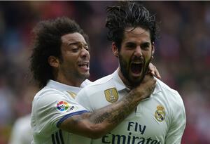 Marcelo junto a Isco