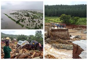 Ciclón en Mozambique y Zimbabue