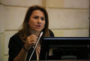 La senadora Paola Holguín