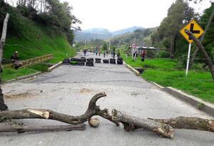 Vía bloqueada