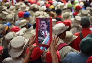Simpatizantes de Nicolás Maduro en Venezuela
