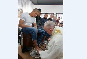 Lavatorio pies Papa Francisco