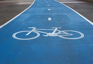 Zona exclusiva para el paso de ciclistas