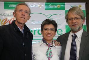 Antonio Navarro, Claudia López y Antanas Mockus