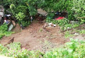 Deslizamiento en Ibagué.