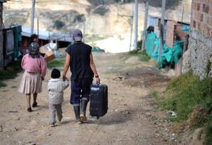 Imagen referencial sobre desplazamientos en Colombia.