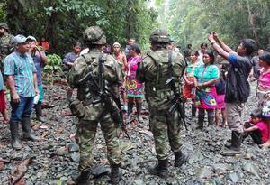 Indígenas en Antioquia.