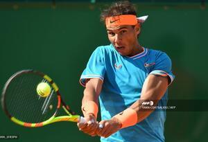 Rafael Nadal en su partido de octavos de final en Montecarlo