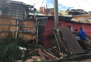 Vivienda del barrio Divino Niño (Ciudad Bolívar), afectada por el invierno