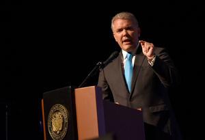Presidente Iván Duque en Bogotá