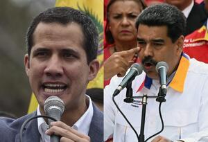 Nicolás Maduro y Juan Guaidó