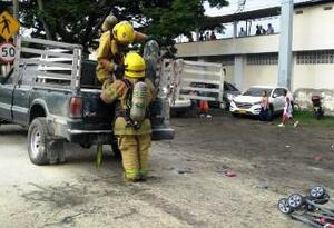Cuatro personas heridas dejó explosión de cilindro de helio en Yumbo (Valle)