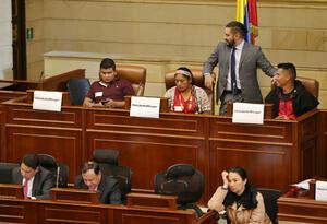 Líderes sociales en la Cámara de Representantes