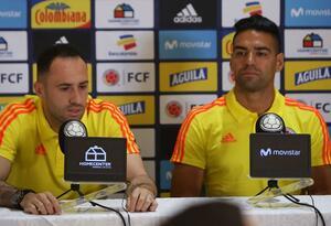 David Ospina y Radamel Falcao en rueda de prensa