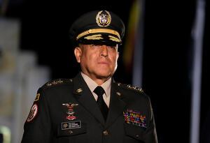 El general Luis Fernando Navarro, comandante de las Fuerzas Militares