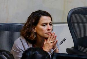 Nancy Patricia Gutiérrez, ministra del Interior, en el Senado de la República, en Bogotá