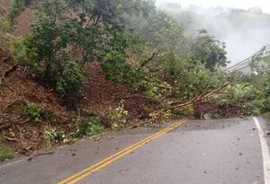 Uno de los derrumbes en Titiribí (Antioquia).