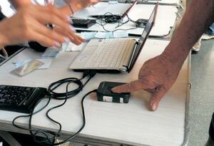 Huella biométrica en las elecciones