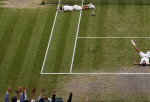 Cabal y Farah tras ganar Wimbledon en dobles