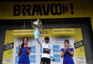 Egan Bernal, ciclista colombiano en el Tour de Francia