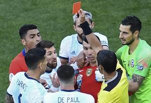 Messi vio la roja en el partido por el tercer puesto de la Copa América Brasil 2019