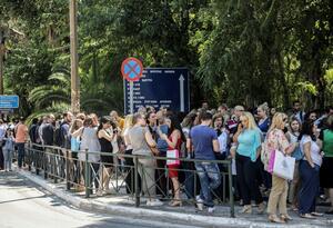 Personas evacuan por fuerte temblor en Grecia