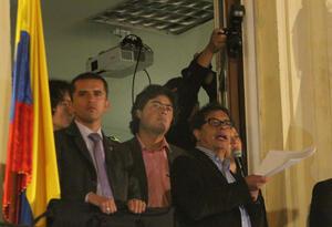 Nicolás y Gustavo Petro en Bogotá