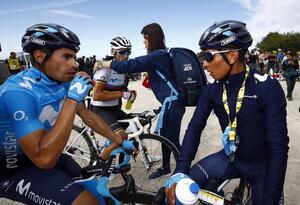 Mikel Landa junto a Nairo Quintana