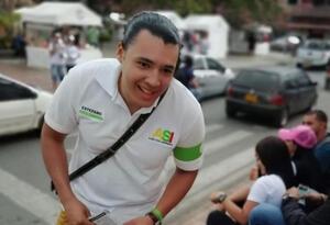 Estéfano Santa Cruz, candidato al Concejo de Medellín.
