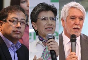 Gustavo Petro, Claudia López y Enrique Peñalosa