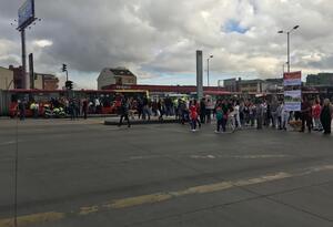 Hay protestas en Bogotá por habitantes de calle.