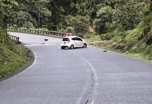 El vehículo está en el puente al a altura del Palmar, municipio de Ricaurte