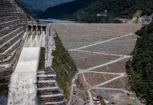 Así luce la presa de Hidroituango a 40 centímetros de ser construida.