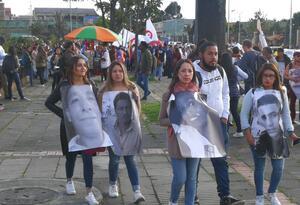 Marcha en pro de los líderes sociales, en Bogotá