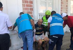 El accidente se registró en cercanías del teatro Adolfo Mejía.