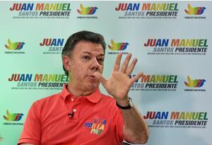 Juan Manuel Santos, durante la campaña de reelección en el año 2014.