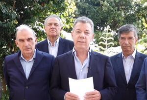 Juan Manuel Santos, Humberto de la Calle y Rafael Pardo