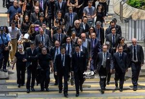 Abogados marchan en Hong Kong