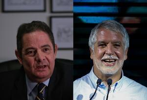 El exvicepresidente Germán Vargas Lleras y el alcalde de Bogotá, Enrique Peñalosa.