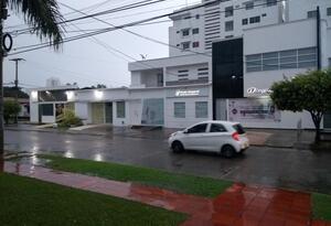 Las lluvias iniciaron a las dos de la madrugada.