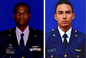 Jesús Mosquera y Sebastián Gamboa, militares de la FAC que murieron en Medellín.