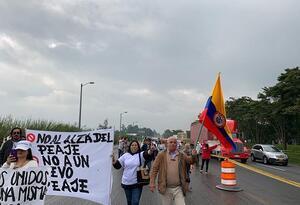 Los manifestantes salieron desde Chía y Bogotá