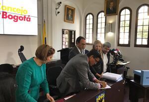 Radicación de POT en el Concejo de Bogotá