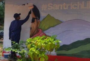 Exguerrilleros borran cara de 'Santrich' de mural en ETCR de Cesar