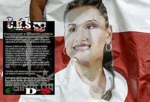 Supuesto panfleto del cartel Sinaloa, por el asesinato de Karina García.