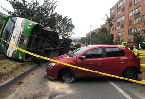 El accidente registrado en el sector de Niza, en Bogotá